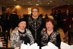 photo - Left to right, Anna Karatchun, Malka Pischanitzkaya and Jenya Friedman at the N'Shei Chabad Unity Event on Feb. 22