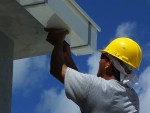 photo - A commercial gutter installation