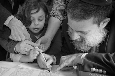 photo - Alexis with Rabbi Moshe Druin