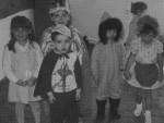 photo - Eitz Chaim students enjoy the dressing-up festivities of Purim, 1989