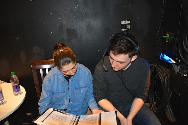 photo - Stage managers Rachel Pekeles and Matty Flader