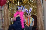 photo - The author and her youngest son, Joel, enjoy Purim at the Louis Brier Home and Hospital. Her eldest son, Benjamin, was the photographer
