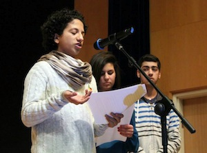 photo - Kids4Peace youth speak at annual Kids4Peace winter event