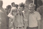 photo - A 6-year-old Shai Gross with his family in 1976, after the successful Entebbe Operation. (photo from Shalva)
