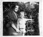 photo - Peter Suedfeld and his mother. Taken at Vajdahunyad Castle, Budapest, Hungary, circa 1939/40
