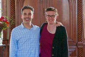 photo - Rabbis David Evan Markus and Rachel Barenblat, co-chairs of ALEPH: Alliance for Jewish Renewal