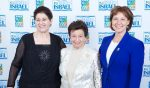 photo - At the Jewish National Fund, Pacific Region, Negev Dinner on April 10, left to right, are Ruth Rasnic, dinner honoree Shirley Barnett and B.C. Premier Christy Clark