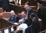 photo - Avigdor Lieberman takes his seat in the Knesset on the afternoon of May 30 in his new role as defence minister