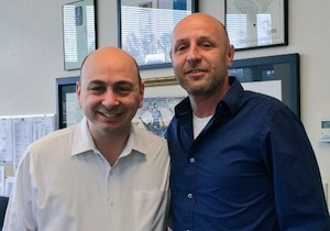 photo - Shai Lazer, right, with Jewish Federation of Greater Vancouver chief executive officer Ezra Shanken