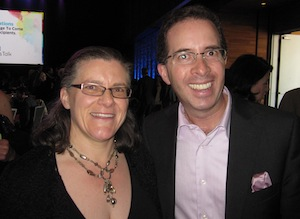 photo - Cynthia Ramsay, publisher of the Jewish Independent, and Shay Keil of Keil Investment Group of ScotiaMcLeod