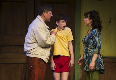 photo - Warren Kimmel, left, Nolan Fahey and Caitriona Murphy in Billy Elliot
