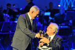 photo - Prime Minister Binyamin Netanyahu awards this year's Genesis Prize to violinist Itzhak Perlman