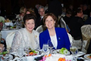 photo - Jewish National Fund Negev Dinner honoree Shirley Barnett, left, and B.C. Premier Christy Clark