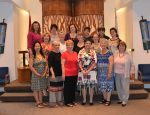 photo - The current Sisterhood of Temple Sholom board at its installation in June 2015