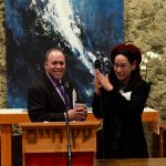 photo - Dr. Marc Gopin of George Mason University and Rabbi Dr. Laura Duhan Kaplan of Vancouver School of Theology at the VST event Encountering the Other: An Inter-Religious Conference