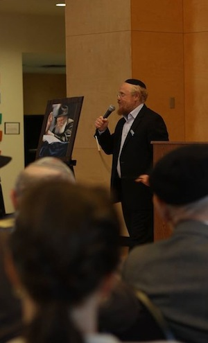 photo in Jewish Independent - Rabbi David Aaron at the event