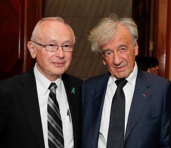 photo in Jewish Independent - Elie Wiesel with friend and fellow survivor Robbie Waisman