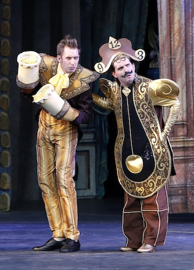 photo in Jewish Independent - Victor Hunter as Lumière, left, and Steven Greenfield as Cogsworth are a superb comedy team