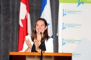 photo in Jewish Independent - Event emcee and Hebrew University alumna Nava Rosenberg