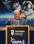 photo in Jewish Independent - Buzz Aldrin addresses the 2016 session of the International Space University at the Technion-Israel Institute of Technology in Haifa