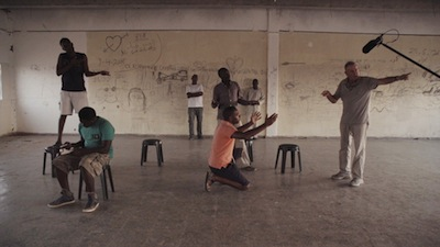 "photo - A ""theatre of the oppressed"" workshop at the Holot Detention Centre in Israel"