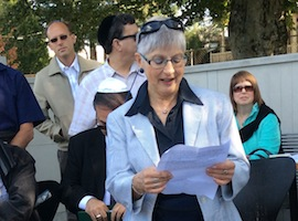 photo - Helen Aqua donated the funds for all of the headstones unveiled that day