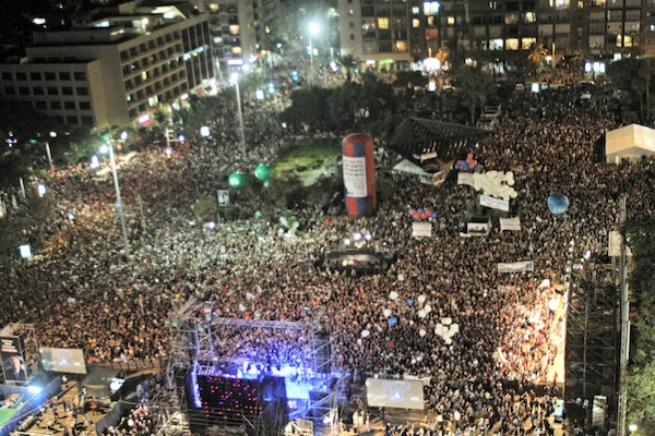 photo - In Tel Aviv in October 2015, thousands of Israelis came together to remember the 20th anniversary of the assassination of Yitzhak Rabin, who was murdered by Yigal Amir in this square
