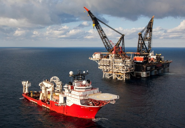 photo - The Tamar gas rig in the Mediterranean, off the Israeli coast