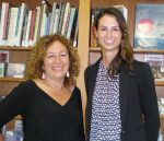photo - Isaac Waldman Jewish Public Library librarian Helen Pinsky, left, and master's student Alisa Lazear, who is working on the library's audiobooks collection