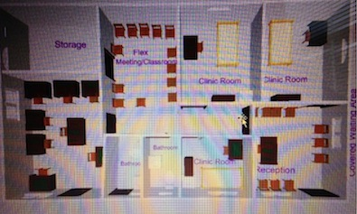 photo - A plan for the clinic designed by Project Somos