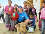 photo - Matthew Boroditsky with some of the children he met at Project Somos