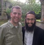 photo - Michael Sachs, left, and Rabbi Levi Varnai of the Bayit