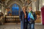 photo - Author Deborah E. Lipstadt, right, with actor Rachel Weisz, who portrays Lipstadt in the film Denial