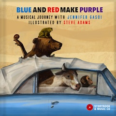 CD cover - Jennifer Gasoi's new book, Blue and Red Make Purple, has already won awards.