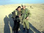 photo - Emily Rose and Aviv Eisenstat in the Israel Defence Forces' officer's training school in 2008