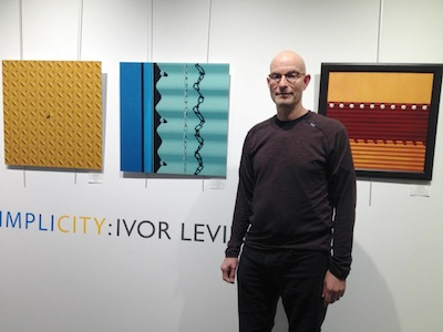 photo - Ivor Levin at the opening of his exhibit Simplicity