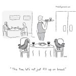 "cartoon - ""This time, let's not just fill up on bread,"" by Jacob Samuel"