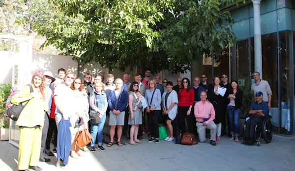 photo - Members of the group at the Neve Schechter in Tel Aviv