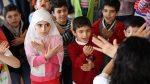photo - Children learn the #iamchild dance routine created by Israeli-Turkish therapist and journalist Michal Bardavid