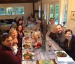 photo - Members of the Gibsons-area Jewish community gather for a pre-Rosh Hashanah dinner