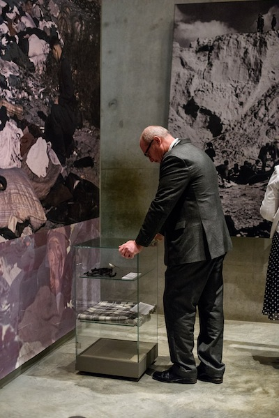 photo - Finance Minister Michael de Jong at Yad Vashem during the November B.C. trade mission to Israel