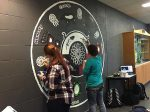 photo - Kirkland Lake students paint a mural as part of the Indigenous Awareness project