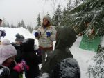 photo - Inbal Len Nenner holds the attention of campers on Cypress Mountain during JCC Camp Shalom's winter session last month