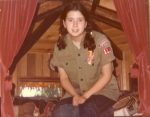 photo - Dawn Lerman, age 15 in this photo, at summer camp