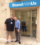 photo - Ryan Bellerose, left, in Jerusalem with Michael Dickson of Stand With Us