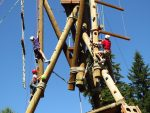 photo - Climbing at Camp Kalsman. Kids will come home from camp laden with good memories