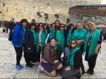photo - The recent Toronto Jewish Women's Renaissance Project group in front of the Western Wall in Jerusalem