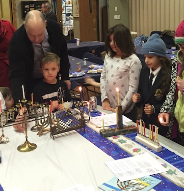 photo - The Okanagan Jewish community's Chanukah celebration Dec. 12