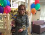 photo - Goldie Kassen at Louis Brier Home and Hospital's Purim party last year