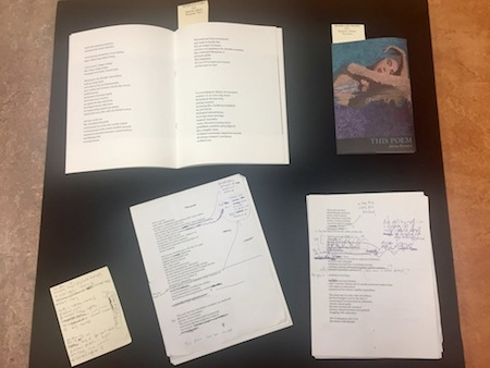 photo - Among Adeena Karasick's donations to the Collection of Contemporary Literature at SFU's Bennett Library were books and personal notes